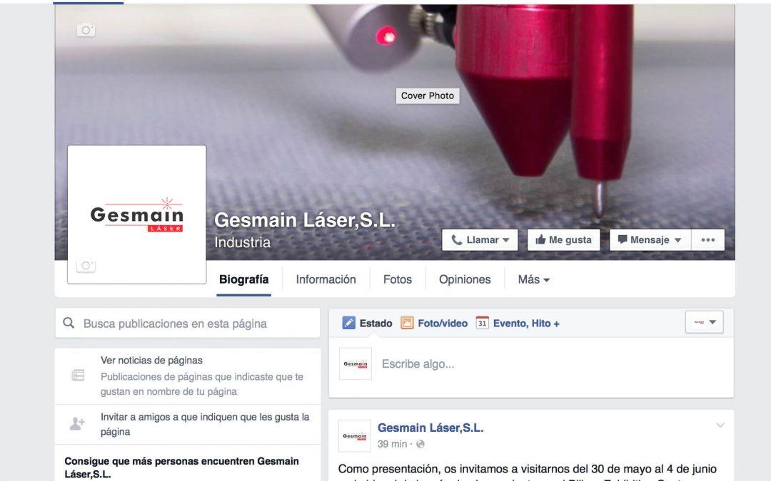 Página oficial de Gesmain láser en facebook